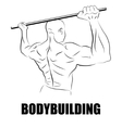athlete bodybuilder vector image vector image