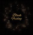 black friday gold disco vector image vector image