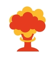 boom atomic isolated icon vector image