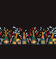 border with bottles champagne and glasses vector image