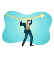 businessman trying to hold decreasing graphic vector image