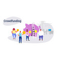 casual people group investment money investor vector image vector image