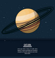 colorful poster with planet saturn vector image vector image
