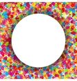 Colorful round celebration background vector image vector image