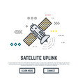 Communication satellite vector image