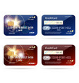 credit card with chip icons vector image vector image
