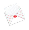 cute cartoon open envelope with clear paper sheet vector image