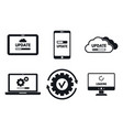 device system update icons set simple style vector image