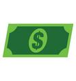 dollar banknote flat icon symbol vector image