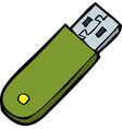 doodle flash memory vector image vector image