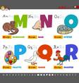 educational cartoon alphabet letters for kids vector image