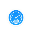efficiency performance icon vector image