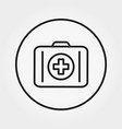 first aid kit icon thin line vector image vector image