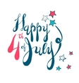 Fourth of July Lettering in RWB vector image