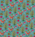 fox and pinecone pattern vector image vector image
