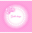 Frame with beads and bow vector image