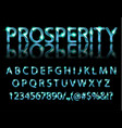 golden blue english alphabet vector image vector image