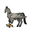 hippogriffi horse bird mithology character vector image
