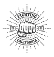 Hipster emblem about fighting club vector image vector image