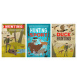 hunter and wild animals ammunition hunting sport vector image vector image