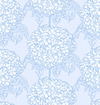 Hydrangeas seamless pattern vector image vector image