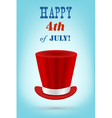 independence day greeting card 4th july vector image