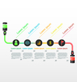 Infographic workflow layout diagram design vector image