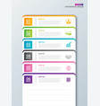 infographics tab paper index with 6 data template vector image vector image