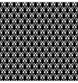 Lace black seamless mesh pattern vector image vector image