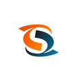 letter s logo internet logo design concept vector image