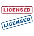 Licensed Rubber Stamps vector image vector image