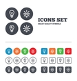 Light lamp icons Energy saving symbols vector image vector image