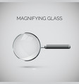 magnifying glass with metal frame and black vector image vector image
