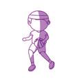 man playing basket ball vector image