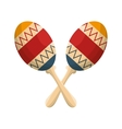 maracas instruments isolated icon vector image vector image