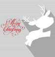 Merry christmas card with deer flat vector image vector image