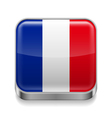 Metal icon of France vector image vector image