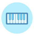 piano keys icon on blue background vector image