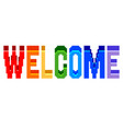 pixel welcome colorful text detailed isolated vector image vector image