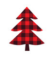 plaid christmas tree vector image