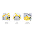 private property and construction service abstract vector image vector image