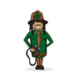 Profession forest keeper cartoon figure vector image vector image