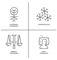 Psychology Logo set vector image vector image