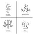 Psychology Logo set vector image vector image