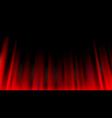red curtain abstract background theatrical drapes vector image