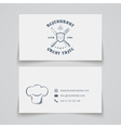 Restaurant business card template vector image vector image