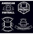 Retro Vintage American Football emblems set logos vector image vector image