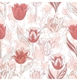 Seamless Floral Background Tulips vector image