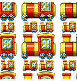 seamless pattern tile cartoon with toy train vector image