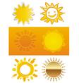 set a sun vector image vector image